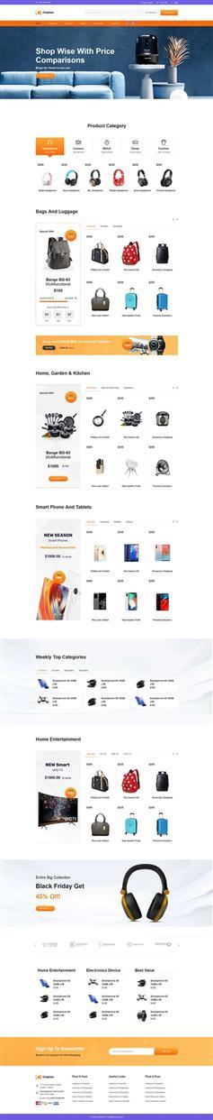 bootstrap综合购物电子商务前端模板