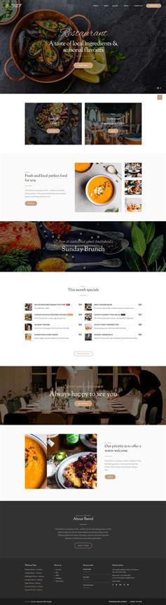 西餐厅美食图片展示网页web模板