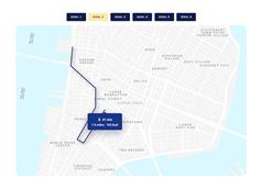 CSS3 SVG地圖路線軌跡特效
