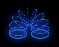 css3绘制蓝色弹性圈圈特效