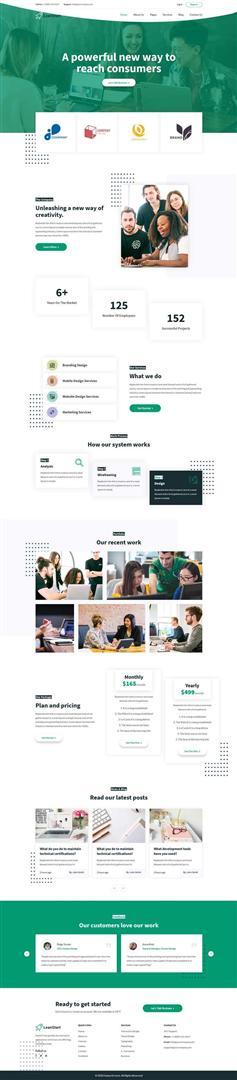 创业投资机构网站HTML模板