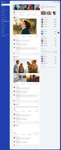 在线交友社区网站HTML模板