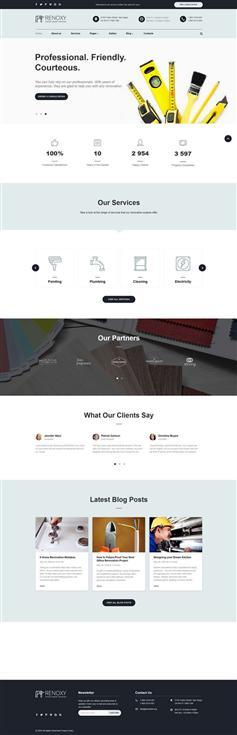 家务维修公司官网HTML5模板