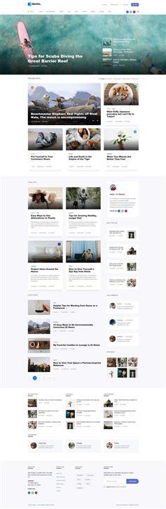 生活记录图文博客HTML模板
