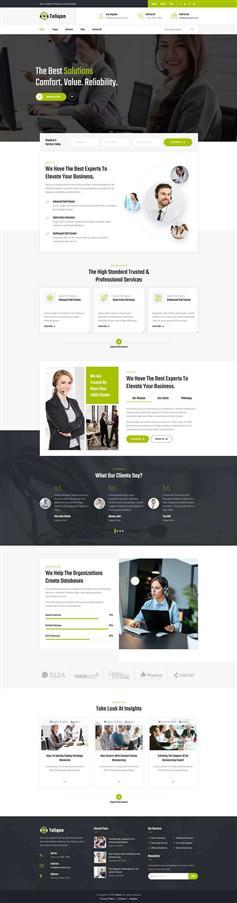 电信业务/电话营销公司网站HTML模板