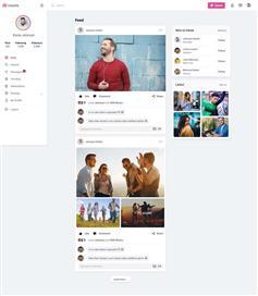 html社交照片共享平台网页web模板
