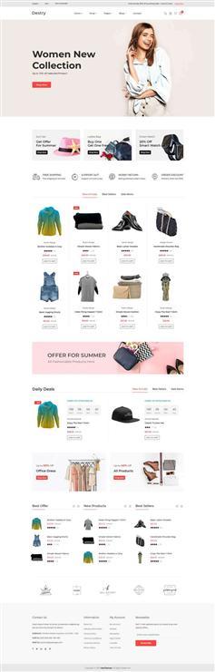 时尚服装电子商务bootstrap模板