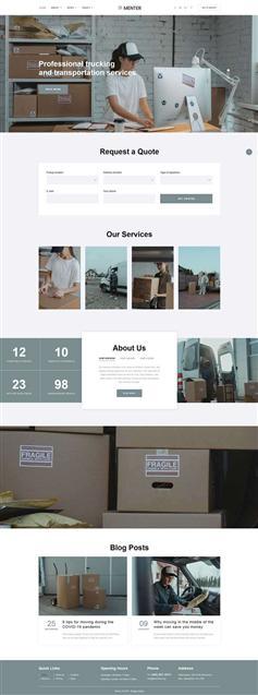 简洁html搬家快递公司网站模板