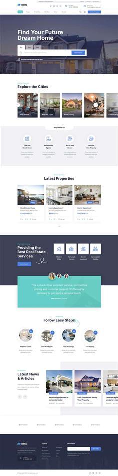 大气HTML房地产业务销售网站静态模板