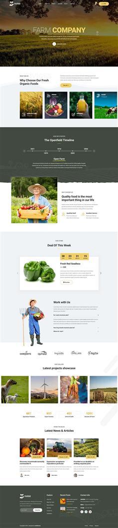 有机农场农业网站ui设计html模板
