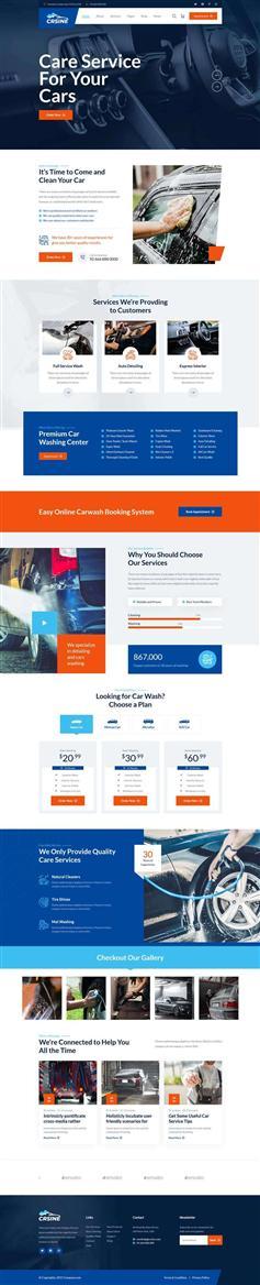 HTML5页面洗车店服务网站模板