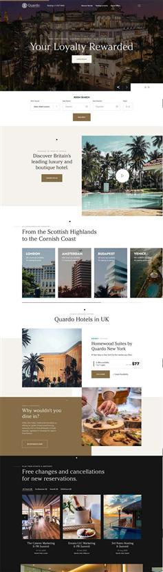 豪华高级酒店预订官网UI设计模板