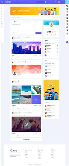 社交社区博客网站HTML5模板