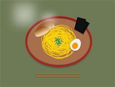 早餐盘子中的鸡蛋面包拉面特效