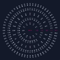 轮盘时钟时间轮盘旋转动画特效