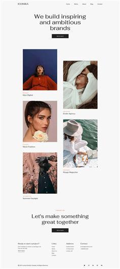 创意html5个人图文博客模板