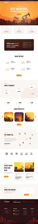 多用大气工业生产企业网站模板