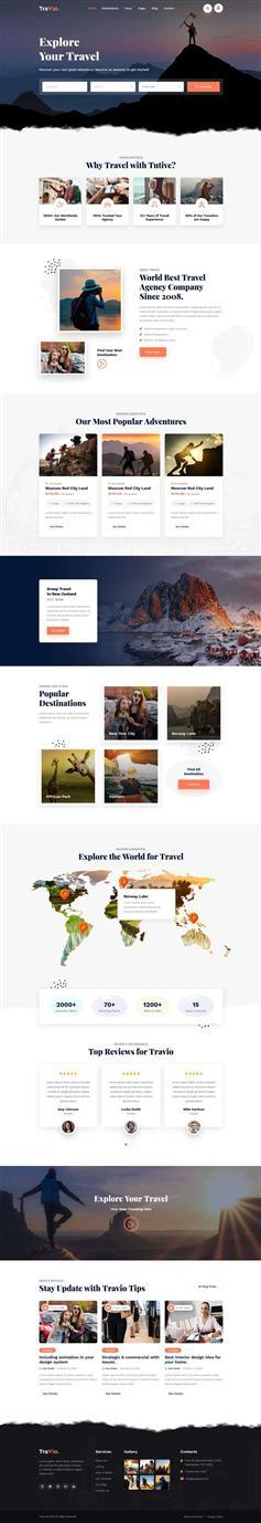 html5响应式旅行社官网模板