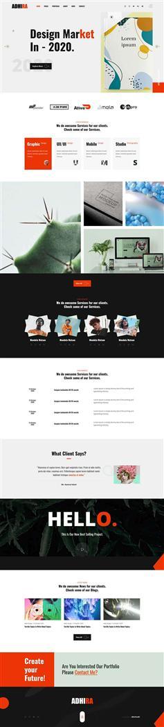 创意的企业宣传主题网站HTML模板