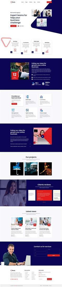 多用途的商业服务公司网站HTML模板
