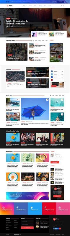 多用途的行业资讯博客网页模板