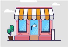 纯CSS3卡通咖啡店铺插图特效
