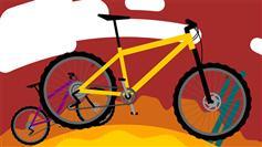 CSS3 SVG自行车绕地球转特效