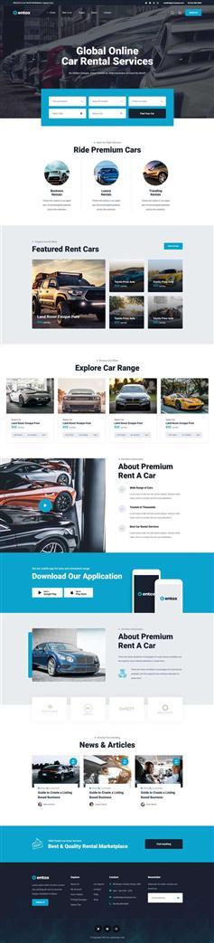 汽车租赁市场预约平台HTML5模板