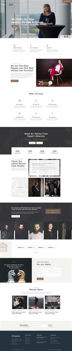 HTML5律师法务顾问公司网页模板