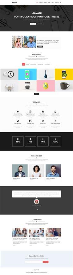 多用途的公司业务展示HTML5模板