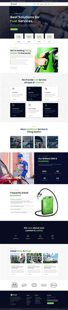 HTML5加油燃料环保企业官网模板