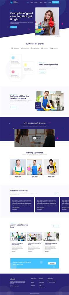 保洁服务介绍展示网页html5模板