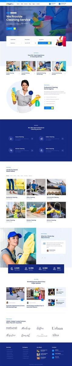 html5+css3保洁家政公司官网模板