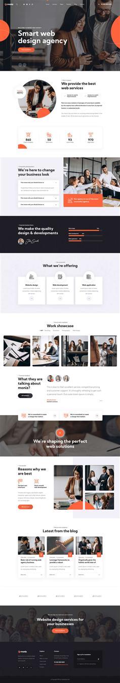 web设计互联网公司网站模板