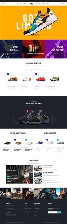 品牌运动鞋服商城HTML5模板