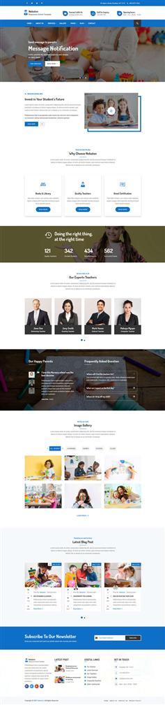 响应式的儿童教育学校网页模板
