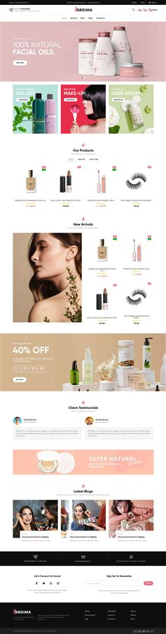 美容化妆品电商Bootstrap模板