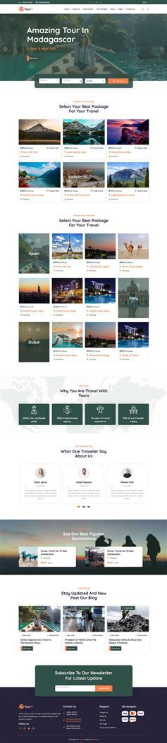 旅游机构服务HTML5网站模板
