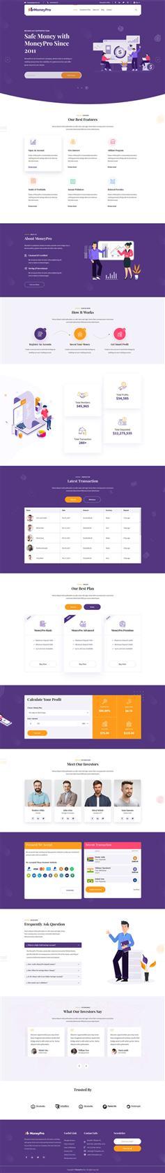 时尚的html投资理财服务企业网页模板
