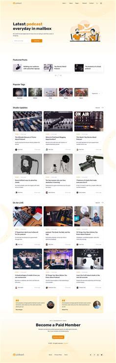 综合播客博客HTML网站模板