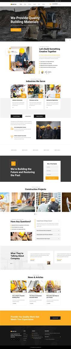 高端大气建筑工业官网html模板