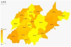 山东省地图网页代码高亮js特效