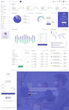 电商app数据统计后台管理模板