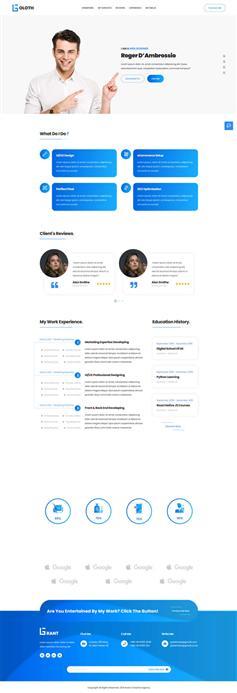 多功能的个人简历主页html模板