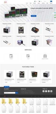 英语版本电子设备外贸企业网站模板