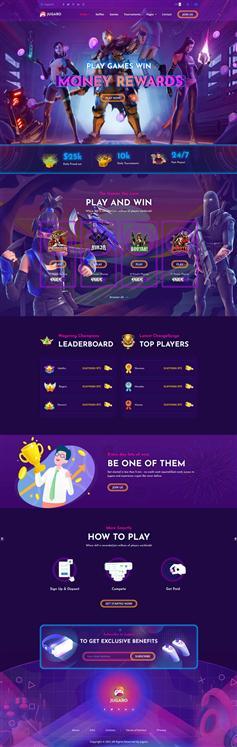 电子竞技游戏官网炫酷网页模板