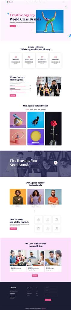 HTML5创意广告设计公司网页模板
