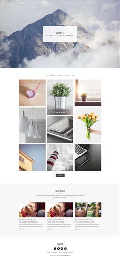 轻量级图片相册博客html5模板