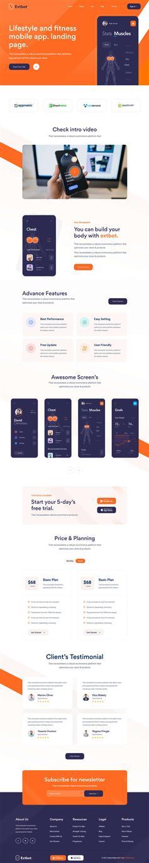 健身运动app官网展示网页模板