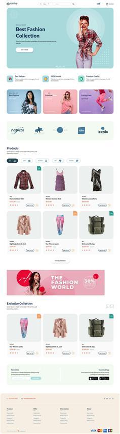 多用途的女性服装电商网页模板